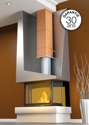 conduit de fum e en brique terre cuite pour chemin e bio 39 bric. Black Bedroom Furniture Sets. Home Design Ideas