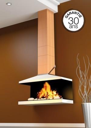 Conduit de fum e en brique terre cuite pour chemin e bio for Boisseau de cheminee en terre cuite